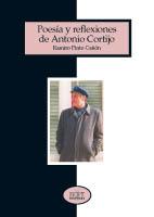 """Portada de """"Poesía y reflexiones de Antonio Cortijo"""""""