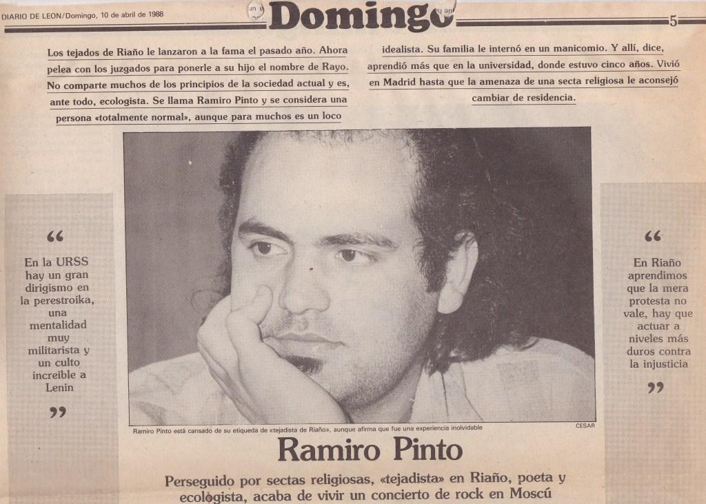 entrevista en el diario de león 1988 ramiro pinto