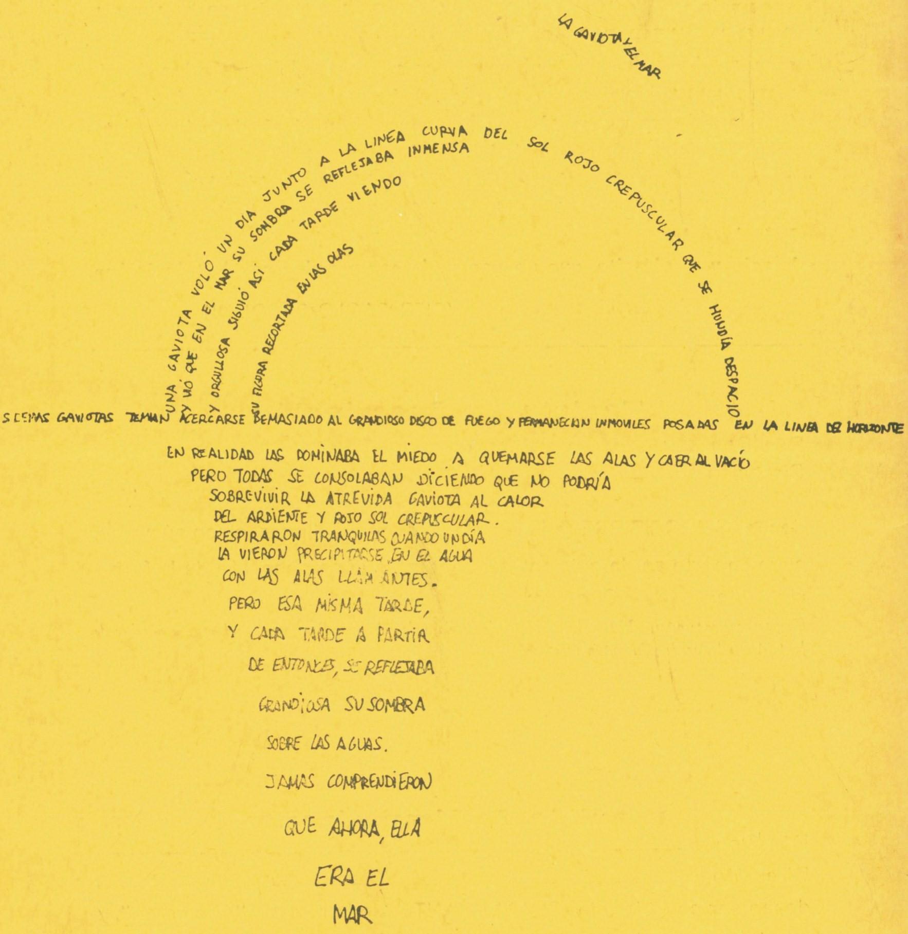 poema dibujado con palabras de óscar garcía romeral estudiante de