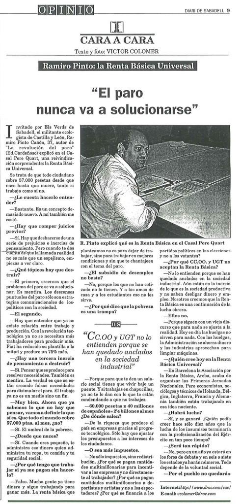 Noticia del Diario de Sabadell, 1998
