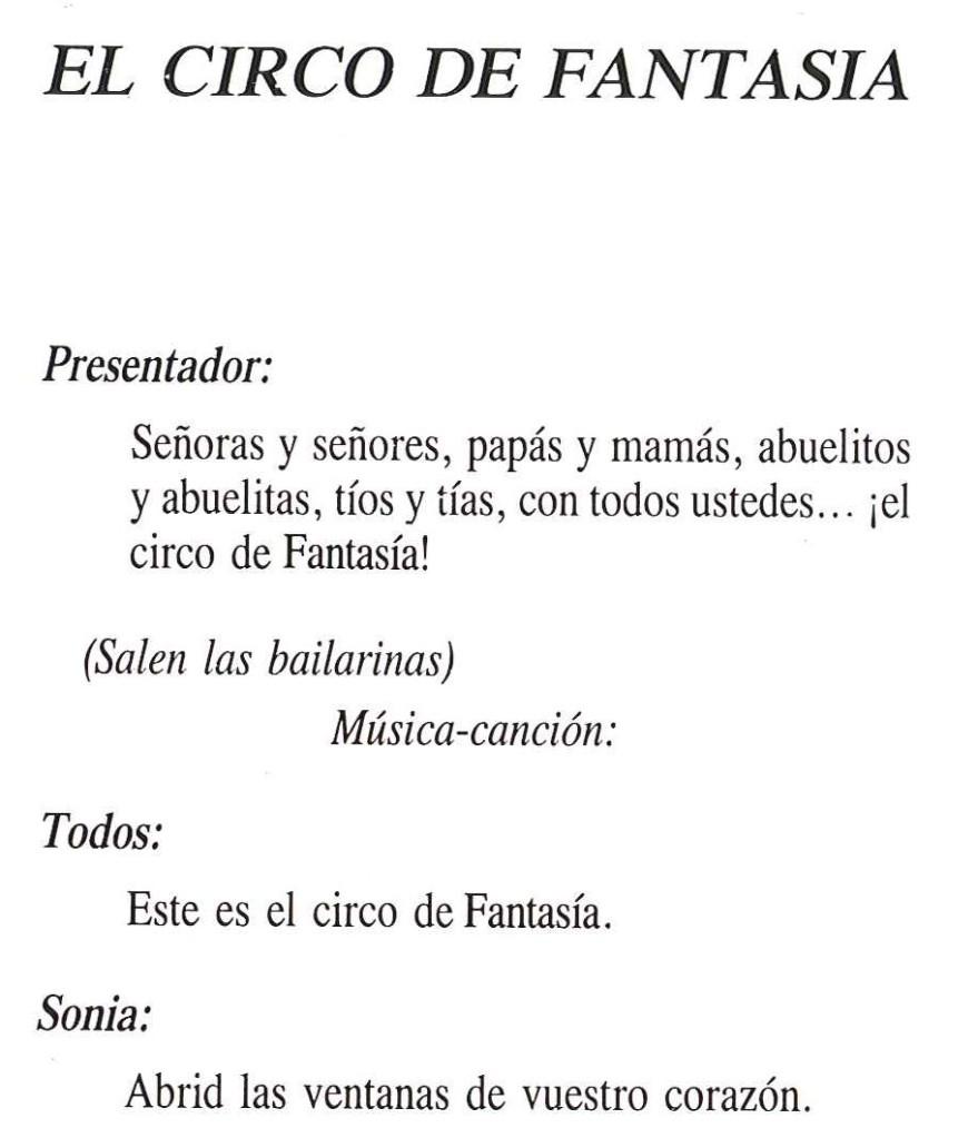 Texto de El circo de fantasía 1