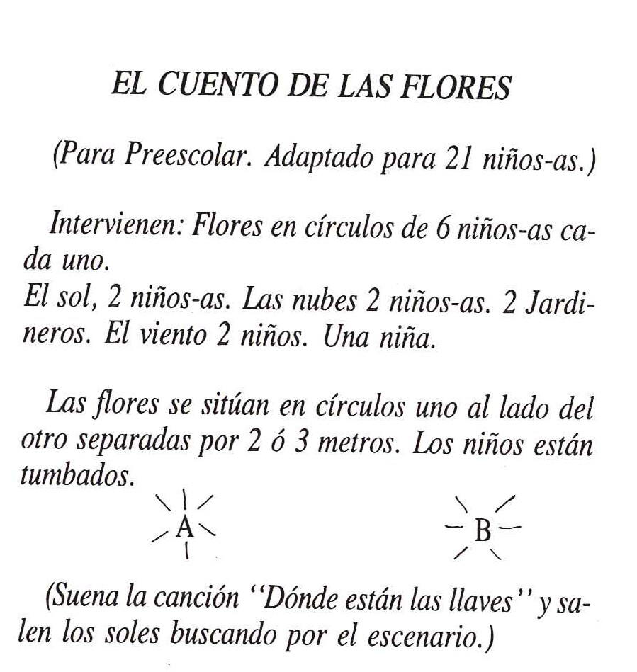 Texto de El Cuento de las Flores 1
