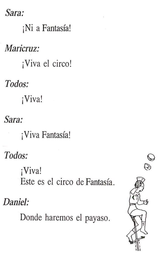 Texto de El circo de fantasía 3
