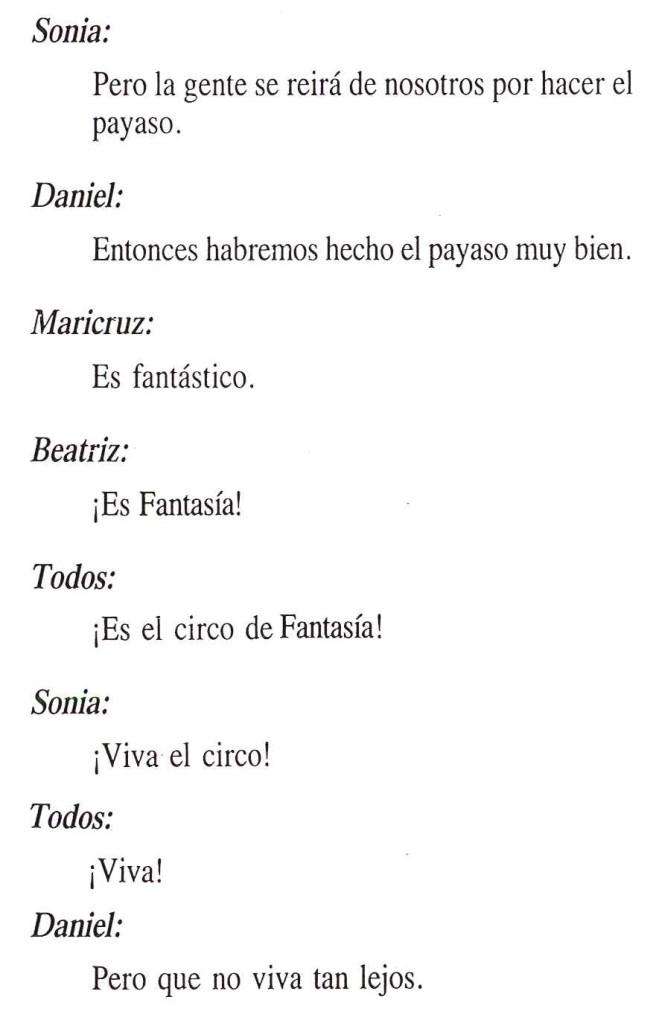 Texto de El circo de fantasía 4