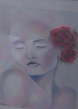 Cuadro mujer flor