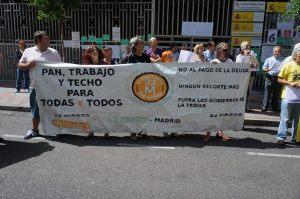 """Los extremeños y Manuel Cañada al frente apoyando por """"Pan, trabajo y techo para todos"""""""