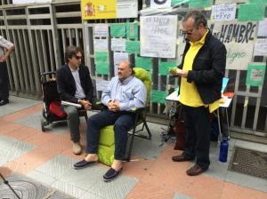 Los dos mosqueteros en su trabajo diplomático más llá de la contienda política, para llegar a los centros de Poder de manera que se produjese alguna reacción. Miguel Ángel Castro y Fernando Montes.