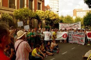 Una concentración de apoyo en León.