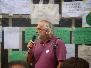 Edurdo Campomanes, amigo y un antiguo compañero de Los Verdes, en la actualidad en EQUO.