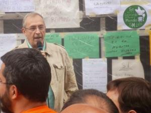 Fernando Pérez, en representación de la CGT de León.