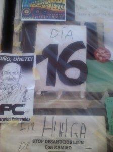 El último día. Con rueda de prensa para anunciar que ya dejaba la huelga de hambre y convocar la manifestación en Madrid a las puertas del Ministerio de Empleo.