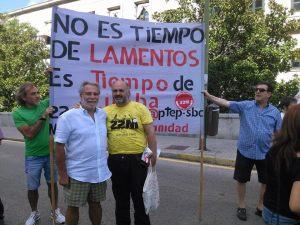 Juan, un amigo de la CGT de Madrid, con quien anduve ls últimas etapas de la marcha dignidad en la columna asturiana.