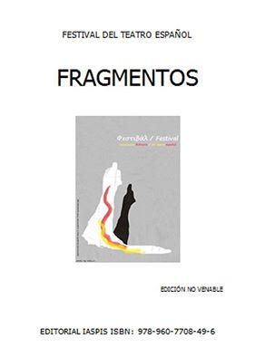 Portada del libro Fragmentos, festival de teatro