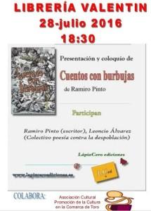 cartel presentación en TORO