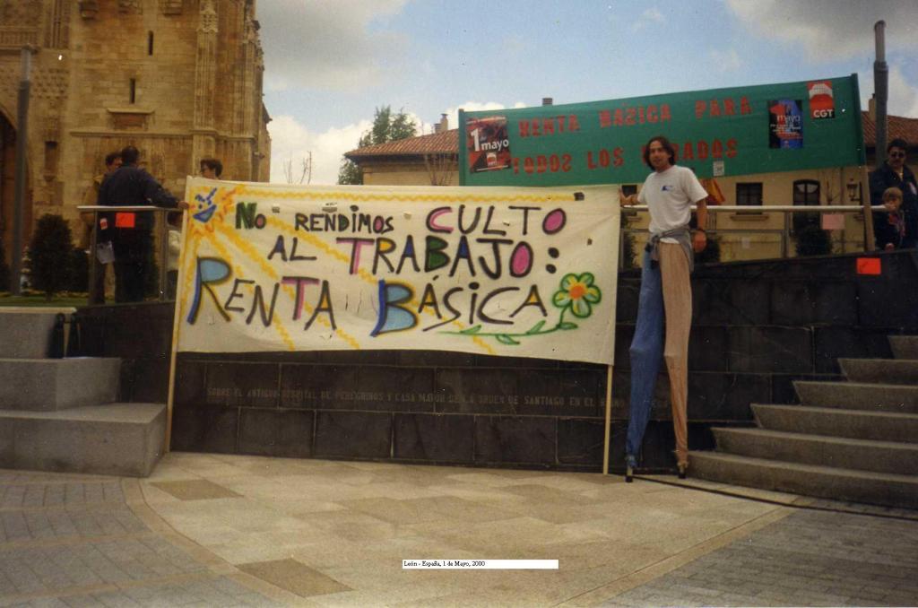 Foto pancarta Renta Básica
