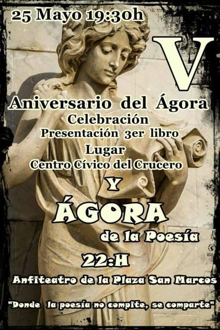 60 cartel Ágora y libro en León