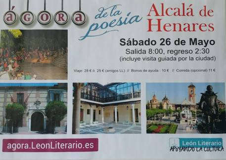 Cartel autobús Alcalá de H