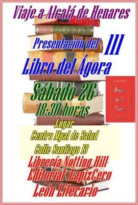 Cartel libro 3 en Alcalá de Henares