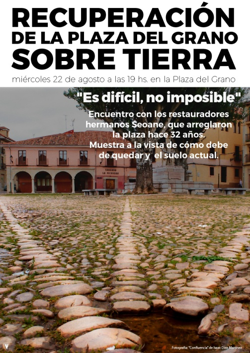 cartel 22 agt 2018 Plaza del Grano