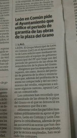 Noticia Leon Comun