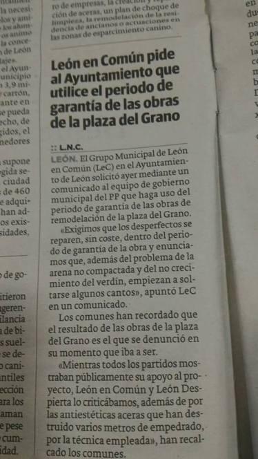 Noticia Leon Comun