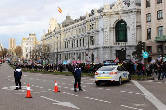 Por el centro de Madrid. 15.000 almas.