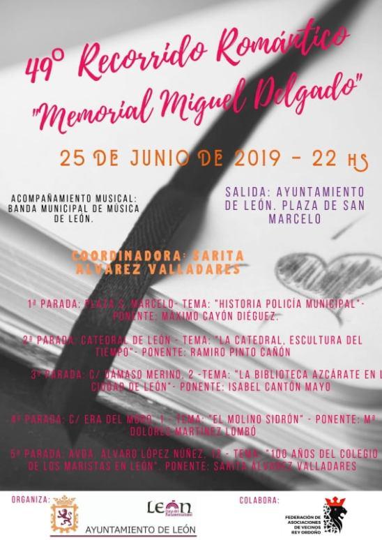 cartel Ruta Literaria del Ayuntamiento de León