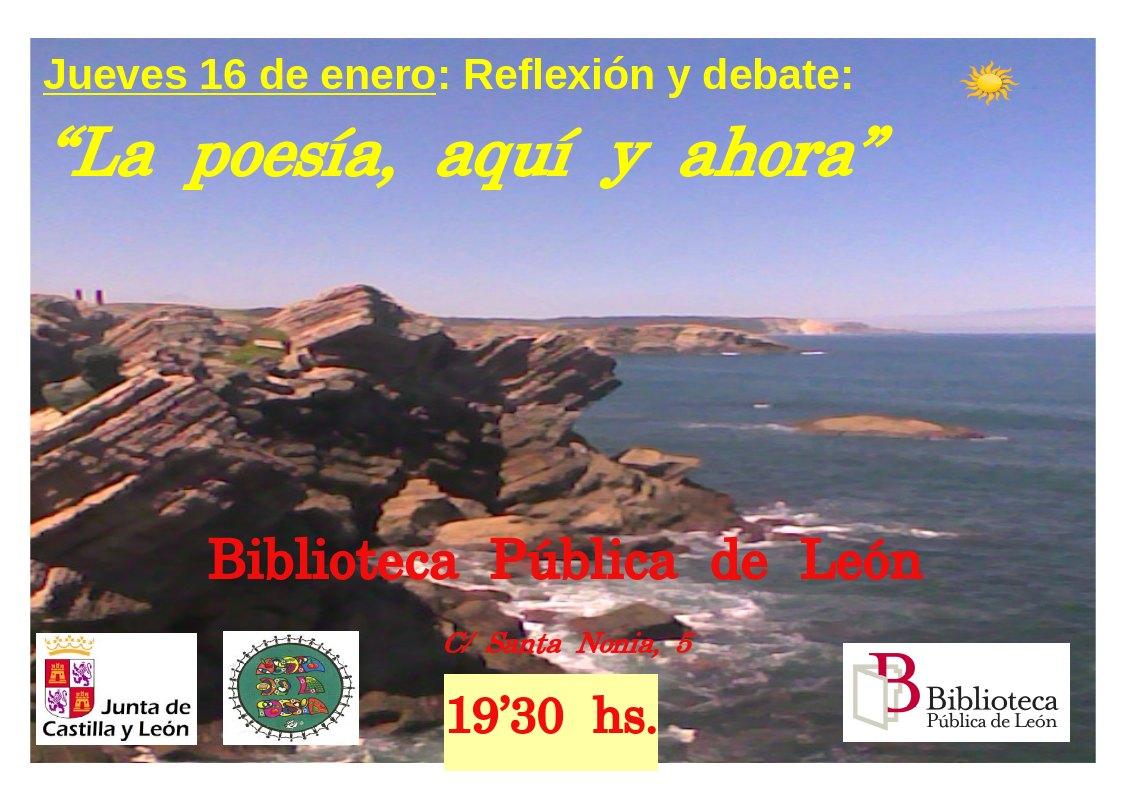 Debate sobre Poesía en la Biblioteca P de León