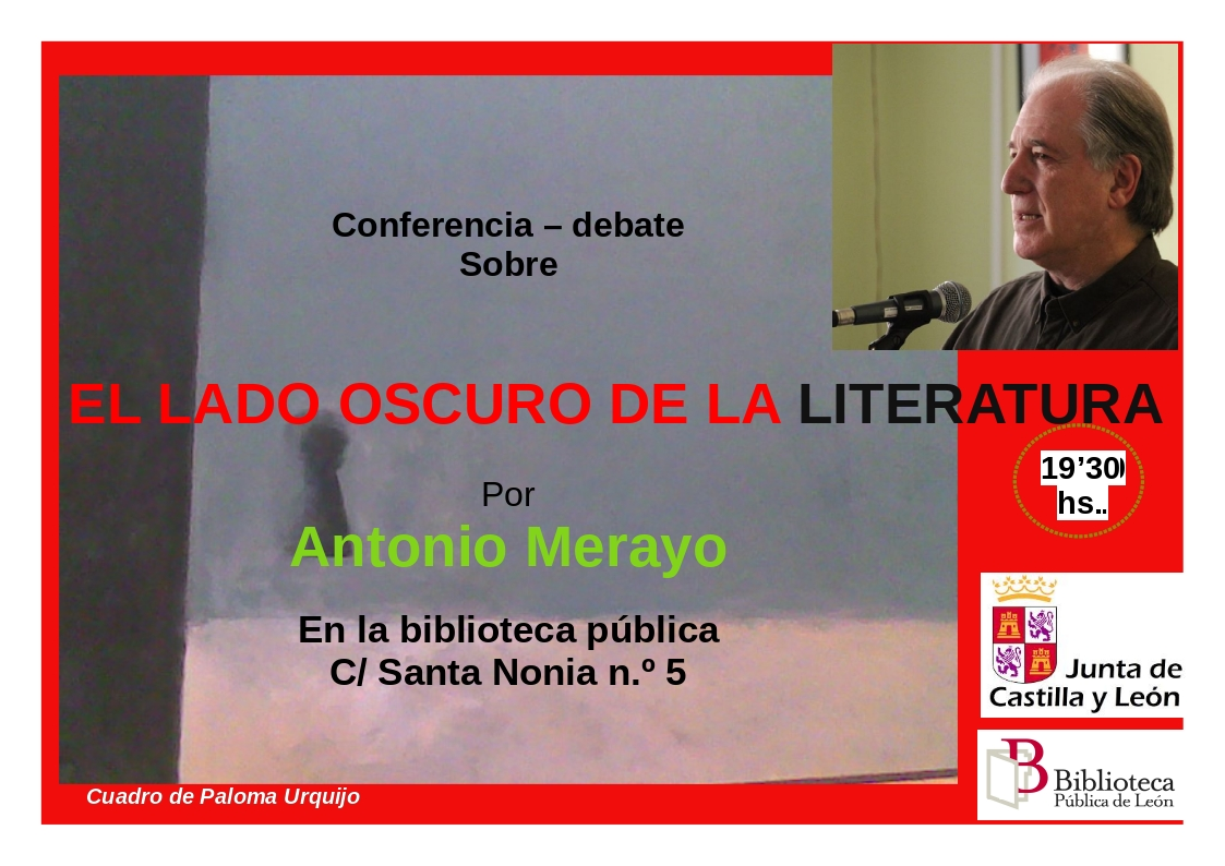 Cartel lado oscuro literatura A-Merayo