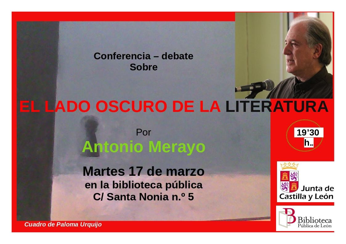 Cartel lado oscuro literatura A Merayo