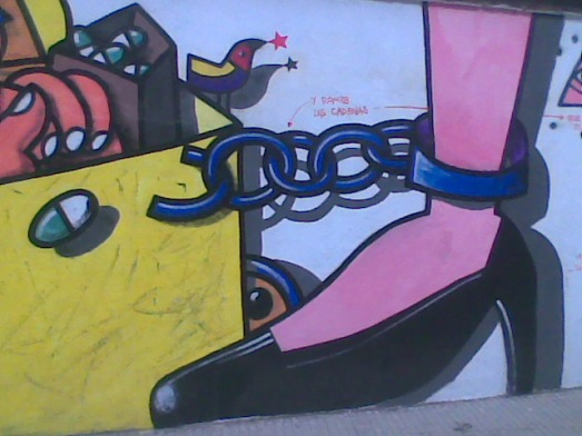 Pintada cadenas Jav Sierra