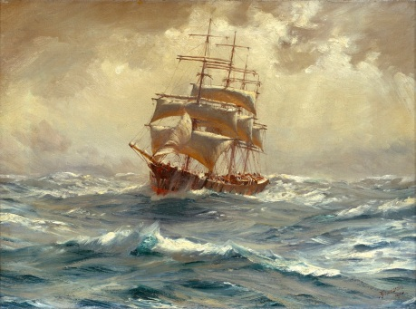 thomas_somerscales_-_a_barque_running_before_a_gale